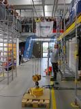 """Jörg Scheilen, Fa. SpanSet: """"Das Verbindungsmittel SP140 erfüllt auch bei 140 Kilogramm die Norm, die von 100 Kilogramm ausgeht: Es reißt maximal 175 Zentimeter auf."""""""