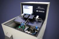 40 Millionen Münzen wurden mit diesem DEMCON-Sortiersystem geprüft. Auf dem Bild-schirm ist die optische Erfassung der Geldstücke zu erkennen / Bild: DEMCON
