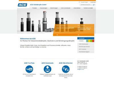 Innovativ, übersichtlich und vereinheitlicht: Die Startseite der ACE Stoßdämpfer GmbH im Internet – unter www.ace-ace.de wird die breite Produktpalette des Langenfelder Unternehmens nun mit völlig neuen Inhalten, Design und Navigation präsentiert