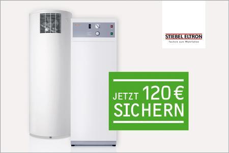 Die günstige Alternative zu jeder Solaranlage und zusätzlich der Einstieg in die umweltschonende und effiziente Wärmepumpentechnologie: eine Warmwasser-Wärmepumpe, hier die WWK 300 und die WWP 300 von STIEBEL ELTRON