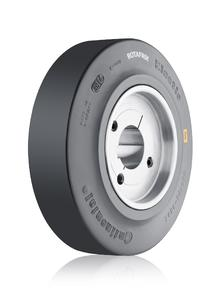 ContiTech is now also offering its Rotafrix friction rings as a package solution including the corresponding wheel bodies (Photo: ContiTech)