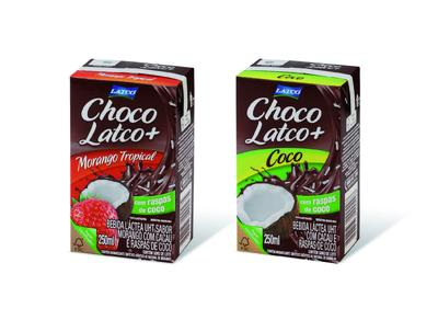 Unique drinking sensation - chocolate milk with   real coconut flakes: Latco launches the first  drinksplus products in Brazil