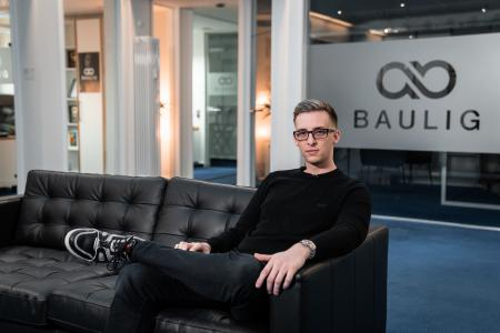 Andreas Baulig in seinem Office in Koblenz