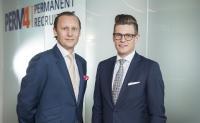 Alex Gerritsen, Mario Buchmann (v.l.) Geschäftsleitung der PERM4 | Permanent Recruiting GmbH