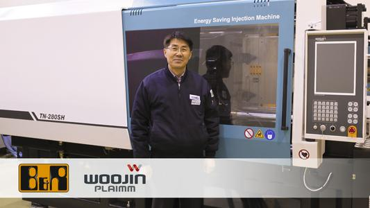 """""""The key to injection molding is to maximize both speed and precision without sacrificing either,"""" states Injun Jung, R&D Director at Woojin."""