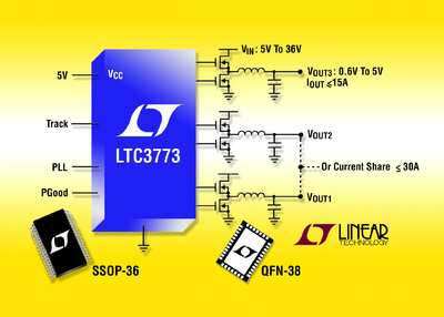 Triple Output, 3-Phase Current Mode Step-Down Controller