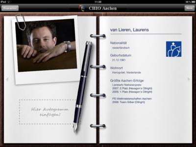 iPad Screenshot Reiterprofil