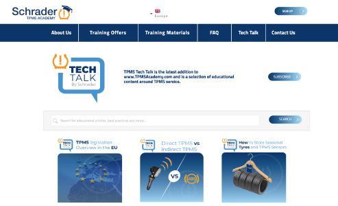 "Schrader TPMS Academy Introduces ""TPMS Tech Talk"""