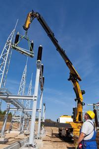 In Bernitt, nördlich von Bützow, entsteht gegenwärtig ein neues Umspannwerk. Foto: WEMAG/Rudolph-Kramer