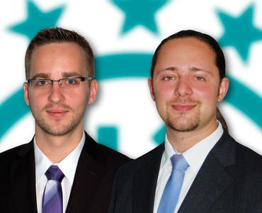 Andreas Schamber and Alois Wiesböck, new specialists for the optical instrumentation