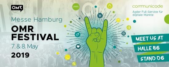 communicode ist Aussteller auf dem OMR Festival 2019