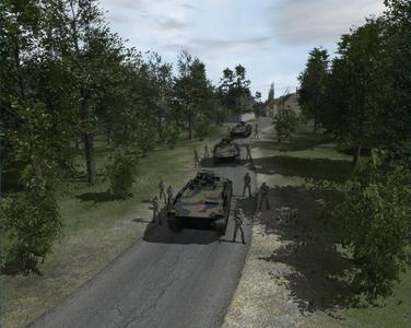 Example of a RDE scenario with dismounted infantry