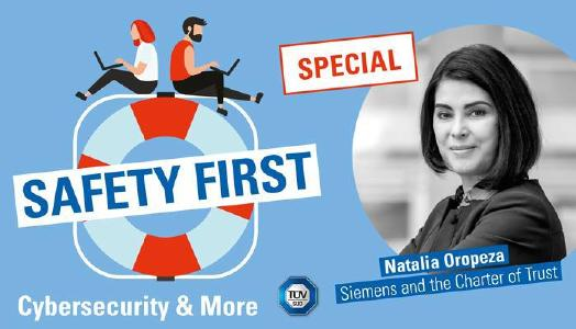 """TÜV SÜD marks Charter of Trust's third anniversary with new episodes of its """"Safety First"""" podcast"""