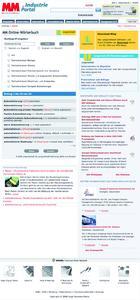 Website MM Maschinenmarkt mit Langenscheidt-Onlinetool