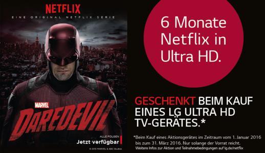 Entertainment-Alarm zum Jahresanfang: LG und Netflix starten mit attraktivem 4K Ultra HD-Package ins neue Jahr