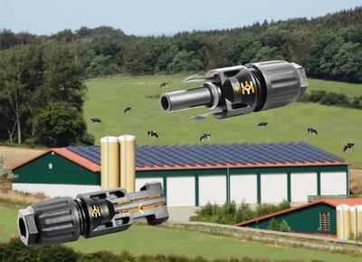 Weidmüller's photovoltaic connectors WM4: ammonia-resistant connectors for use in photovoltaic systems