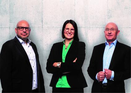 Bildcomposing: Axel Vetter, Johanna Birkhan, Andreas Jäschke, v. l. n. r.