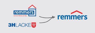 Alle Marken unter einem Dach. Das deutlich entschlackte Logo ist nun das zentrale Dach der Remmers Leistungsschwerpunkte / Grafik: Remmers, Löningen