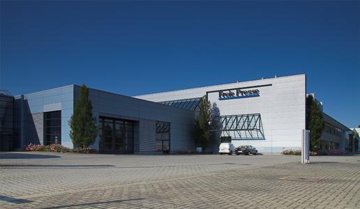 Hinter den Fassaden des Druckzentrums der Freien Presse wird die gesamte Druck- und Produktionstechnik erneuert.