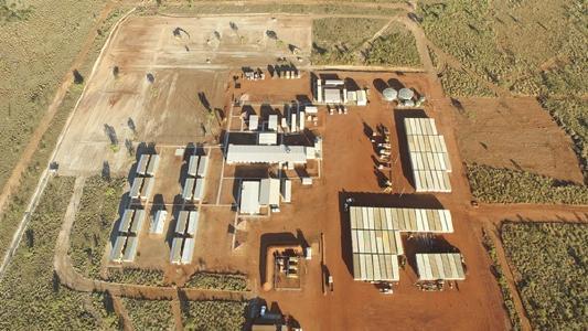Camp auf dem Pilgangoora-Projekt; Foto: Pilbara Minerals