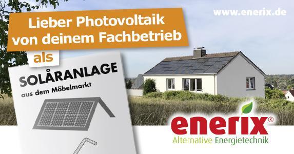 Lieber Photovoltaikanlage vom Fachbetrieb