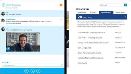 Skype for Windows 8.1, engineered since the acquisition