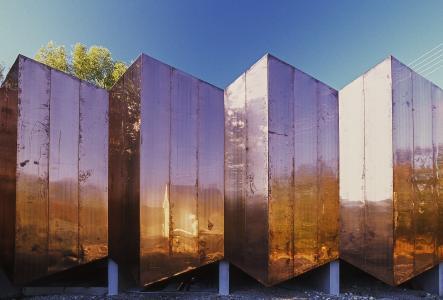 Der Musikprobensaal in Thannhausen bei seiner Fertigstellung im Jahre 2002. Foto: E. Matthäus hindlschineis_architekten_