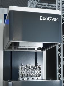 Das innovative Trockenreinigungssystem EcoCVac wurde für die energiesparende Zwischenreinigung von Powertrain-Bauteilen entwickelt. Es arbeitet ohne Druckluft.