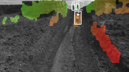 3D terrain mapping by ITK Engineering detects people and objects in rough terrain and alerts the driver to potential hazards / Picture: © ITK Engineering