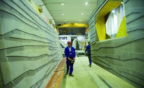 Die Herstellung der Betonfertigteile erfolgte im Fertigteilwerk des Bauunternehmens Dobler aus Kaufbeuren. Foto: NOE-Schaltechnik, Süssen