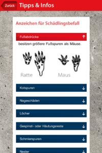iSchädling Screen Anzeichen