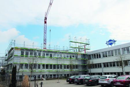 Das MAPAL Verwaltungsgebäude erhält zwei weitere Etagen