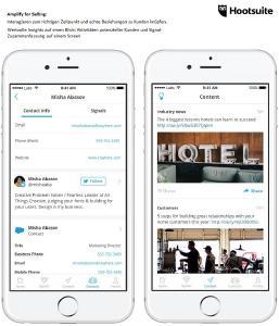 Verpassen Sie keine Gelegenheit mehr - interagieren Sie zum richtigen Zeitpunkt, und knüpfen Sie echte Beziehungen zu Ihren Kunden / Wertvolle Insights auf einen Blick: Aktivitäten potenzieller Kunden und Signal-Zusammenfassung auf einem Screen