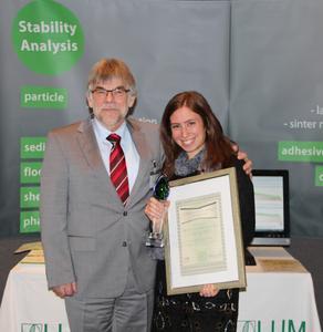 President of the Jury Prof. Dr. D. Lerche (LUM GmbH, GER) and Prize Winner Shir R. Liber (Bar-Ilan University, IL)