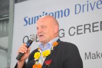 Shaun Dean, Vice President der SHI Gruppe, resümiert die Erfolgsgeschichte des indischen Standortes und blickt auf zukünftige Chancen / Bild: Sumitomo (SHI) Cyclo Drive Germany GmbH