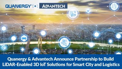 Advantech & Quanergy Announce Partnership to Build LiDAR-Enabled 3D IoT Solutions for Smart City and Logistics