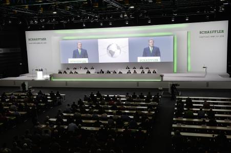 Hauptversammlung der Schaeffler AG 2018 in der Nürnberger Frankenhalle. Foto: Schaeffler