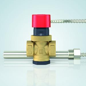 Die neue thermische Ablaufsicherung TAS 03 von AFRISO bietet aufgrund zweier unabhängiger Fühlersysteme ein Höchstmaß an Sicherheit. Sie ist zur Absicherung von geschlossenen oder offenen feststoffbefeuerten Heizungsanlagen nach EN 12828 mit maximal 100 kW einsetzbar (Foto: AFRISO)