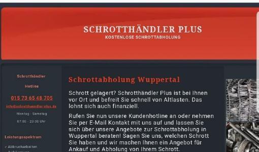 Schrottabholung Wuppertal holt Schrott jeder Art