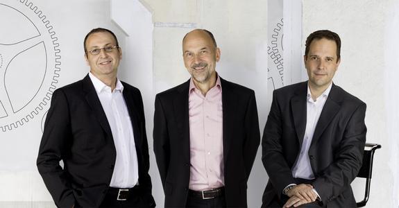 Vorstand der infowerk ag (v.l.n.r.): Dr.Benno Schmitzer, Winfried Gaber, Dr.Michael Hau