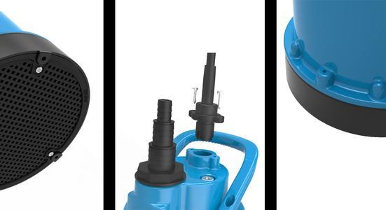 3 x Plus: Ein Sieb schützt die Hydraulik. Das Kabel ist leicht auszutauschen. Ein Entlüftungsventil ermöglicht den Pumpenstart schon bei 5 mm Wasserstands Höhe (Foto: Pentair Jung Pumpen, Steinhagen)