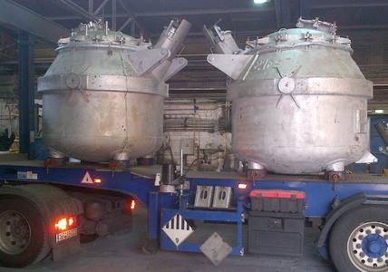 Angebaute SMITH-Sensorik (in der Mitte) bei der Aleris Recycling GmbH