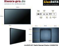 LionDATA 98 Zoll Display LDA982474K