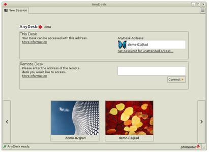 Screenshot AnyDesk für Linux_1