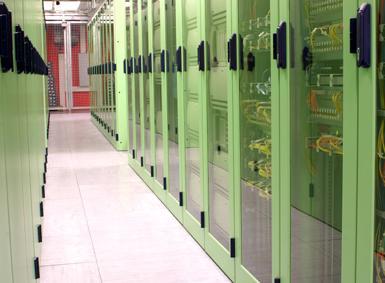 Hochsicherheits-Rechenzentrum der noris network AG.