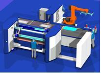Kundenspezifische Konfiguration des Schröder IB Power-Speed-Centers mit Roboter-Beladung, Manipulator und IntelliBend Schwenkbiegemaschine