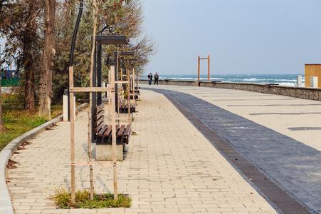 Fast 8.500 Meter Filtersubstratrinne Drainfix Clean wuden für die Reinigung des Oberflächenwassers im rumänischen Badeort Mamaia verbaut