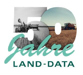 Logo 50 Jahre LAND-DATA