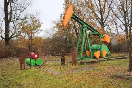 Die sogenannte Ölbrücke diente ursprünglich der Erschließung eines Ölfeldes