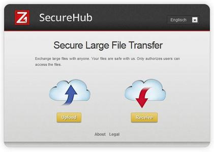 Screenshot: Z1 SecureHub Interface